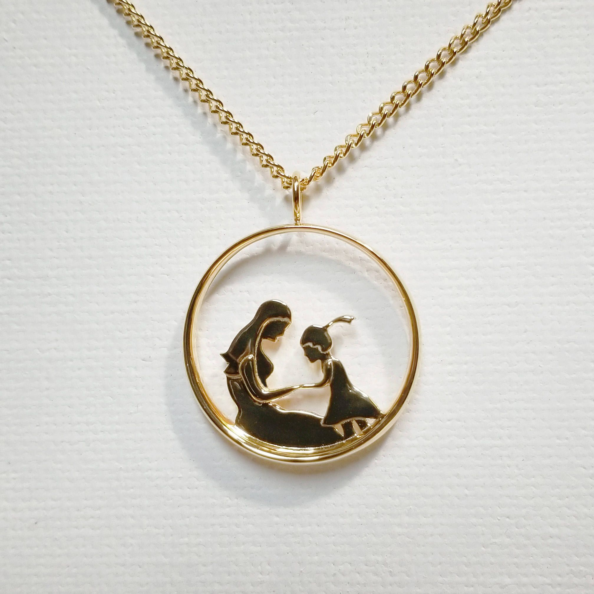 Mother and Son/Daughter Pendant Necklace 2 (Birthday, Mother\'s Day ...
