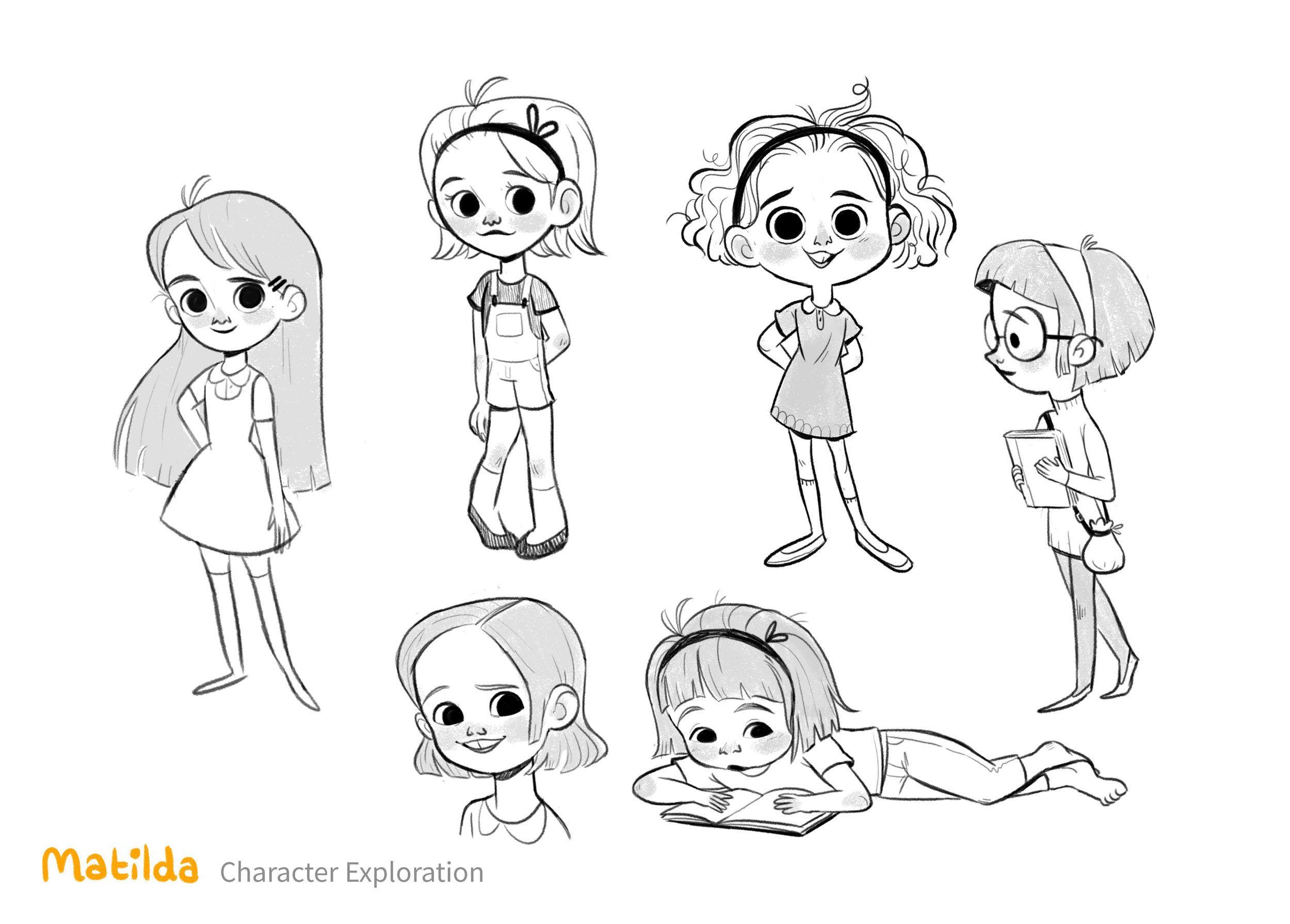 Cartoon Characters Facing Forward : Matilda g characters pinterest visual