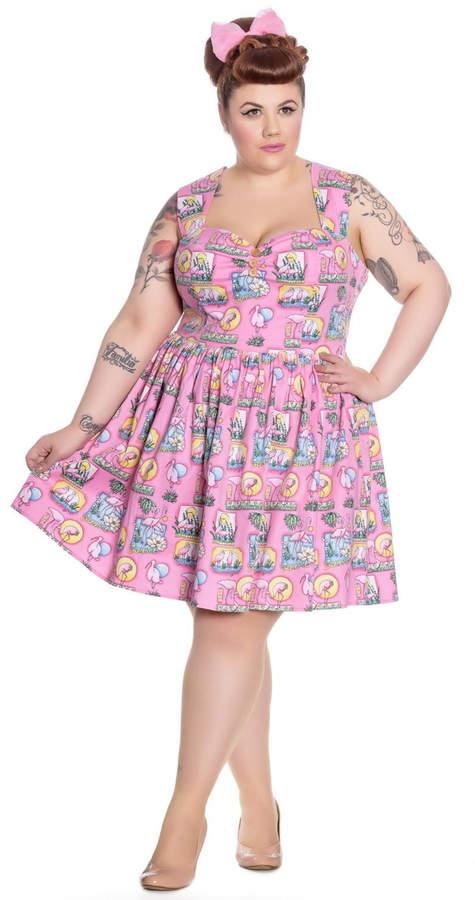 Hell Bunny Deery Me Mini Rockabilly Pinup Swing Vintage Dress 2XL-4XL