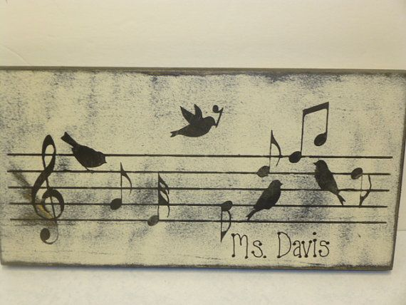 MUSIC TEACHER GIFT / Music teacher sign / hand by SophiesCottage