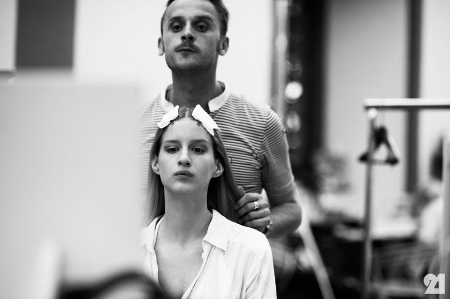 The model Luca Adamik backstage at Damir Doma, Resort 2014   Florence @ http://le-21eme.com