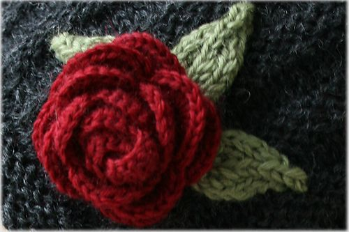 Knitting Flowers Patterns Free : Free knit rose flower pattern crafthubs crochet