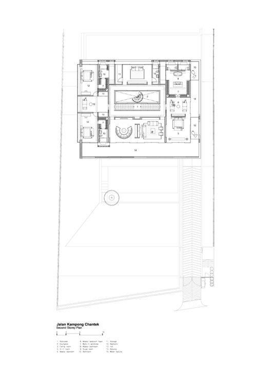 JKC1 / Ong&Ong Architects,Planta Segundo Nivel 01