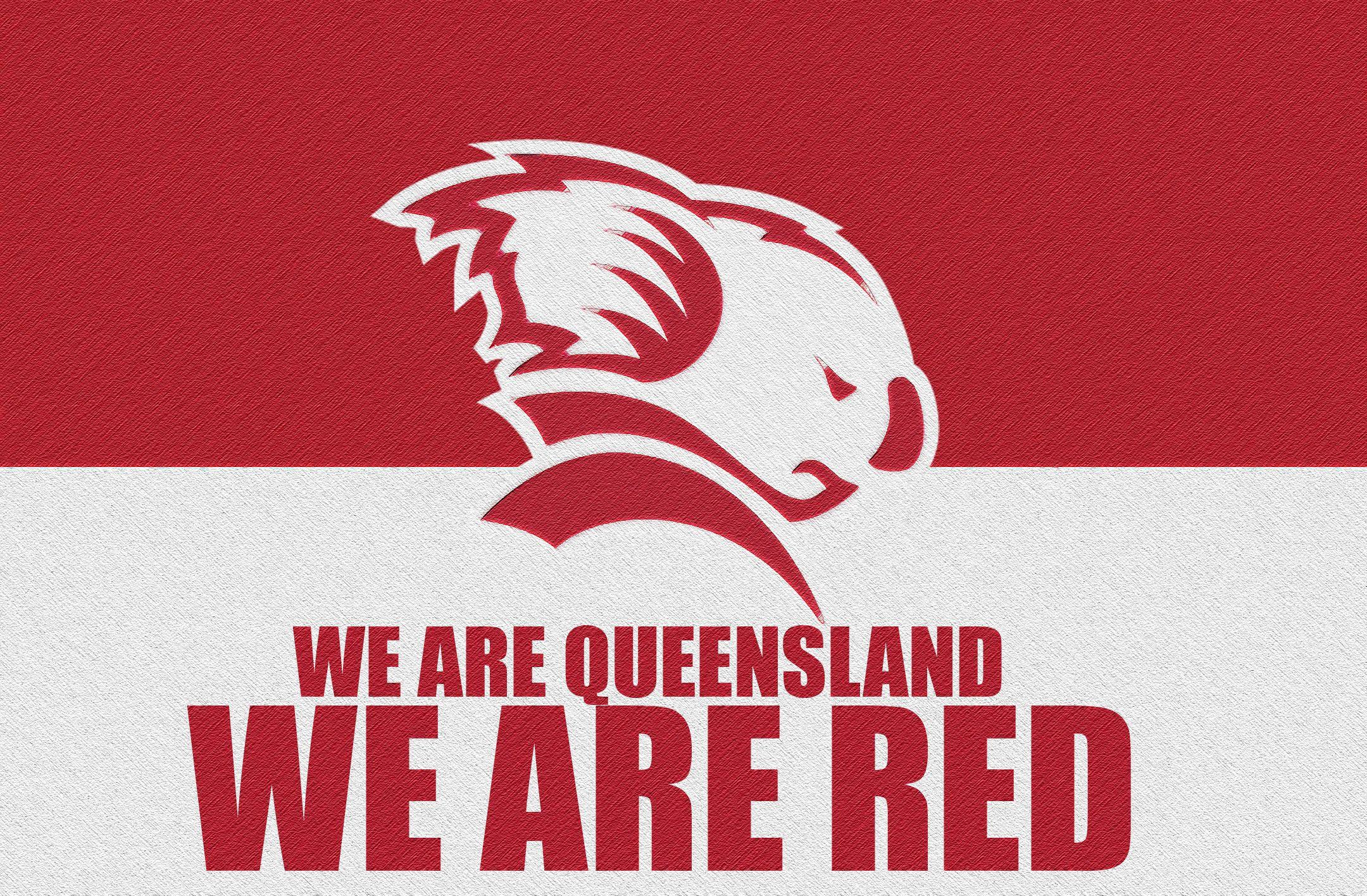 Queensland Reds Flagstyle Wallpaper V2 By Sunnyboiiii Red Queensland Wallpaper