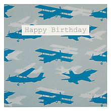 Buy Saffron Planes Birthday Card Online At Johnlewis