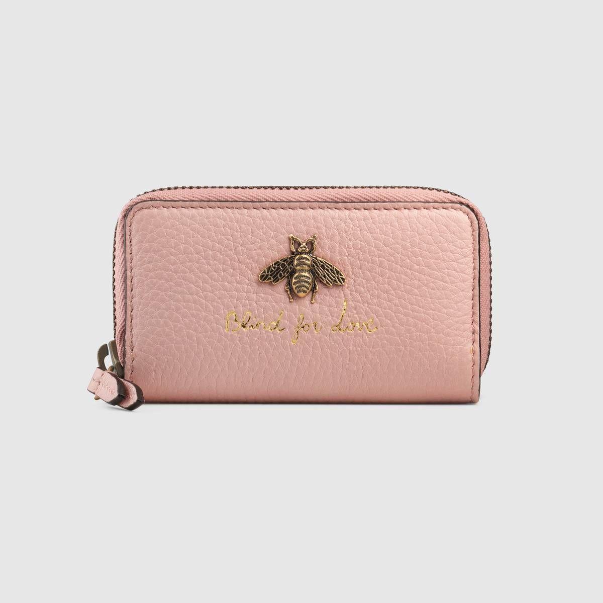 Gucci animalier key case detail 2 wallets for women