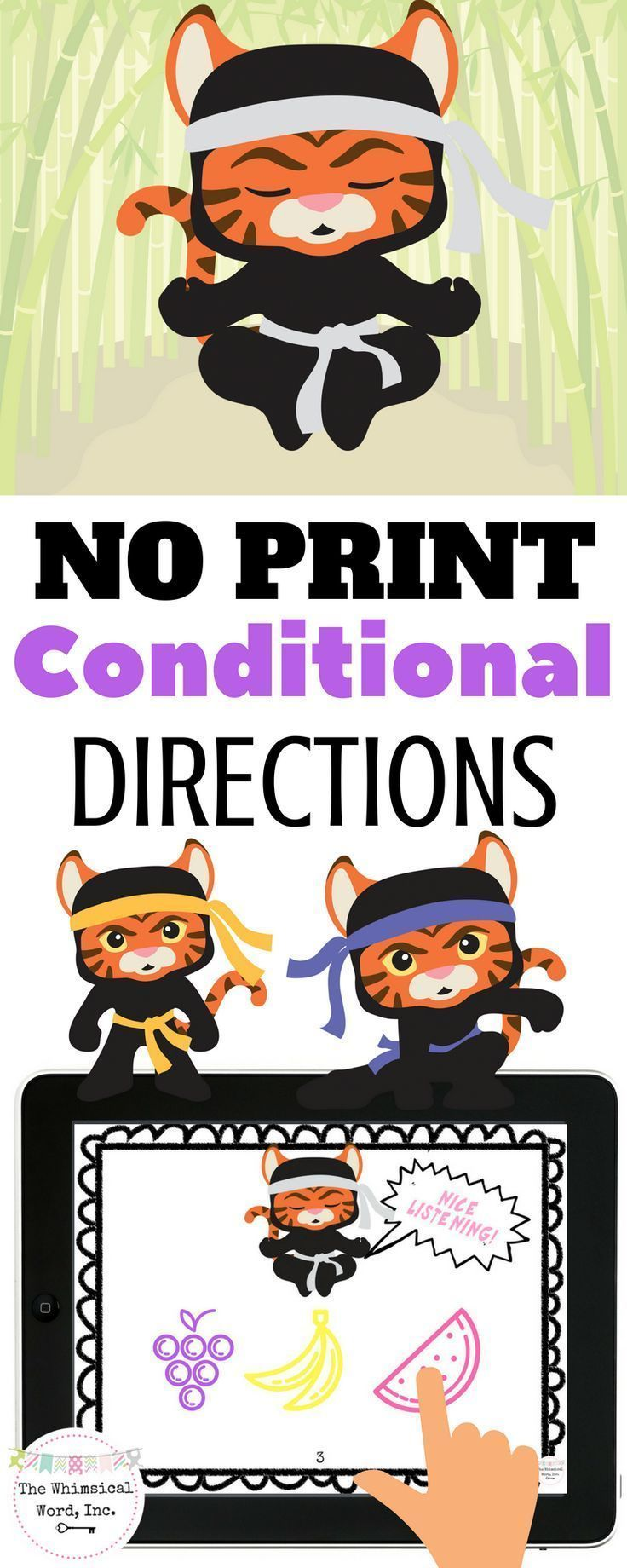 following directions activity no print speech therapy slp bloggers and tpt ideas for speech. Black Bedroom Furniture Sets. Home Design Ideas