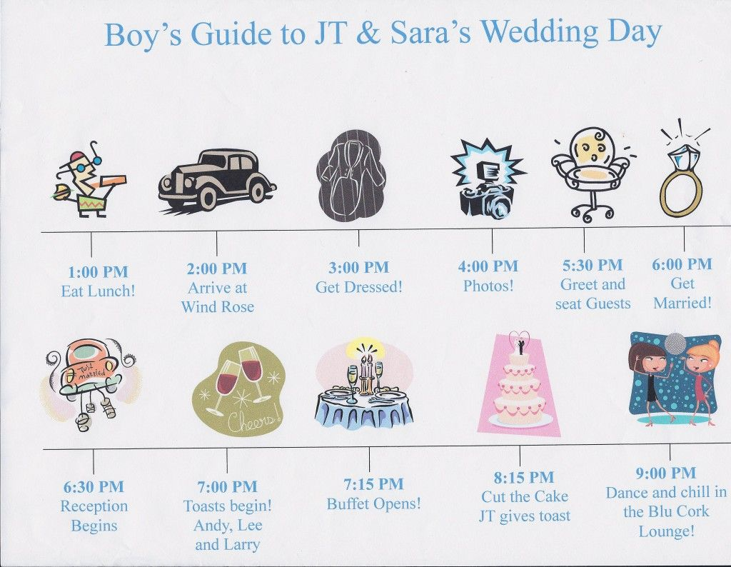 Wedding Day Timeline Card Weddingdayitinerary  Sample Wedding