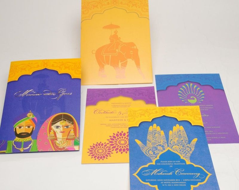 jain wedding invitation wording in hindu%0A Caricatures  Turmeric Ink Invitations and Stationery Pictures  Indian  Wedding