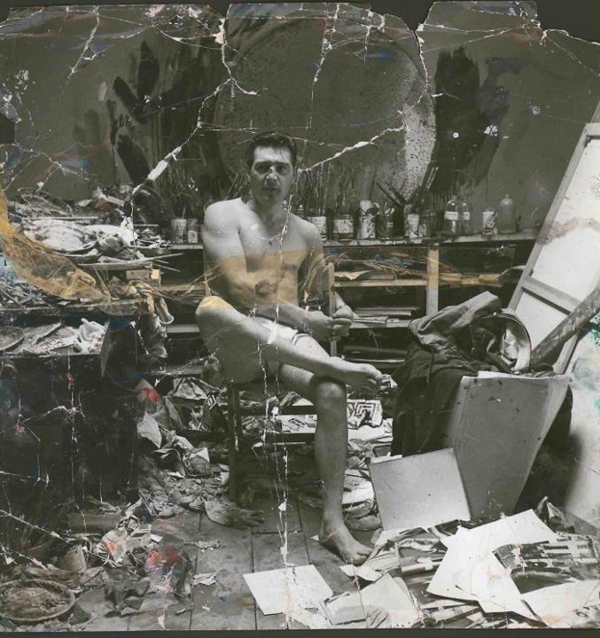 Francis Bacon in his studio...