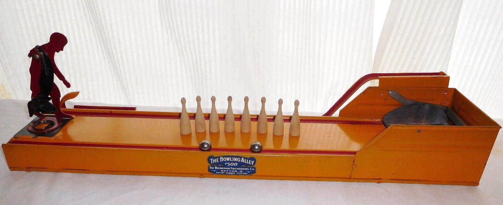 Vintage Brinkman Engineering The Bowling Alley 500 Tin Toy Dayton Ohio Tin Toys Dayton Ohio Dayton