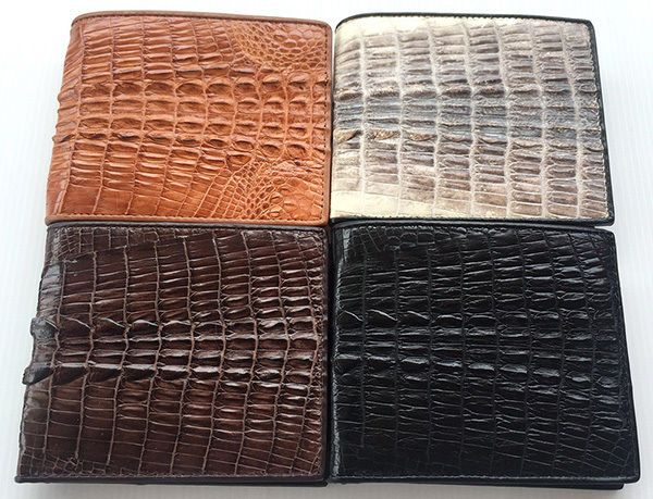 Genuine REAL CROCODILE Alligator Tail Skin Leather Man Bifold Trifold Wallet New