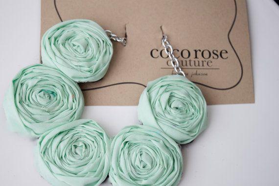 mint rosette necklace