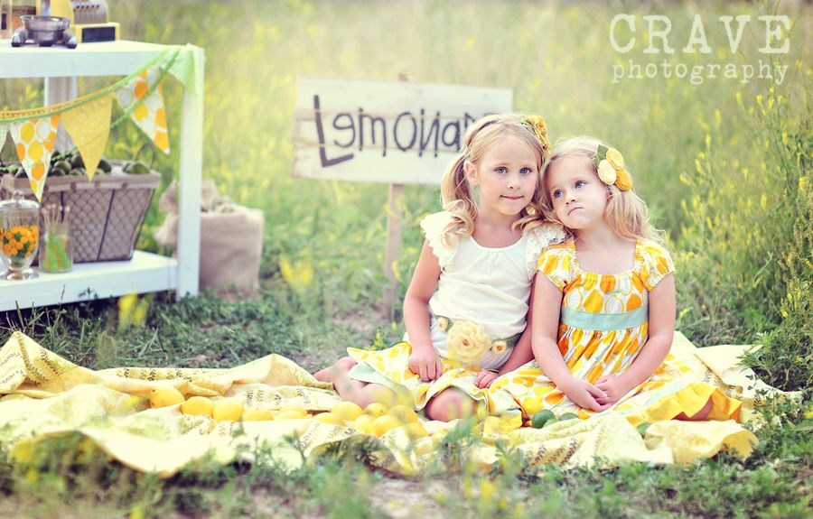 vintage lemonade stand shoot - how adorable!
