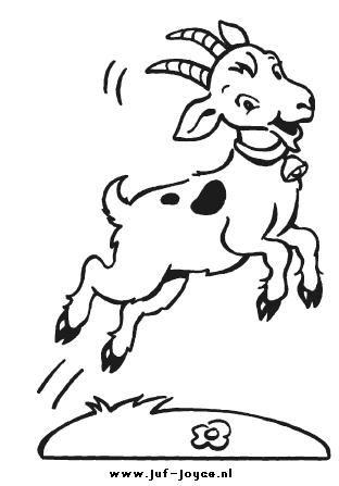 kleurplaat geit geiten kleurplaten boerderijdieren