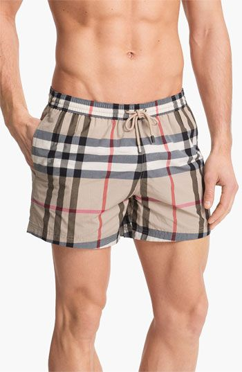 dd5a371c45 Burberry Brit 'Brinn' Check Swim Trunks available at Nordstrom | My ...