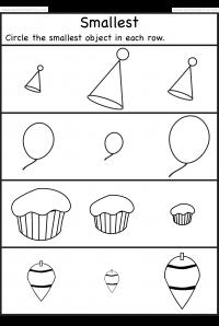 Smallest – 2 Worksheets | Schoole | Pinterest | Vorschule, Abi und ...