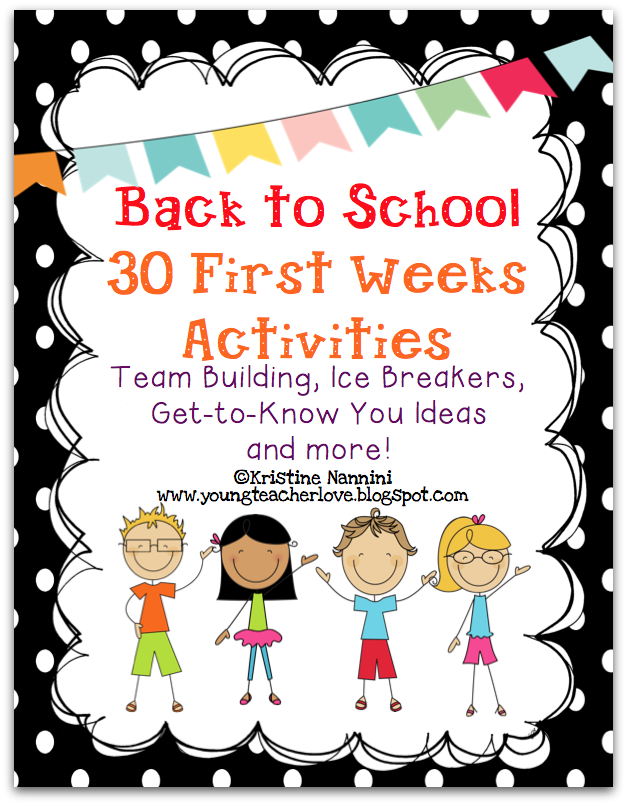 Beginning of the Year Team Building Updates- Young Teacher Love by Kristine Nannini