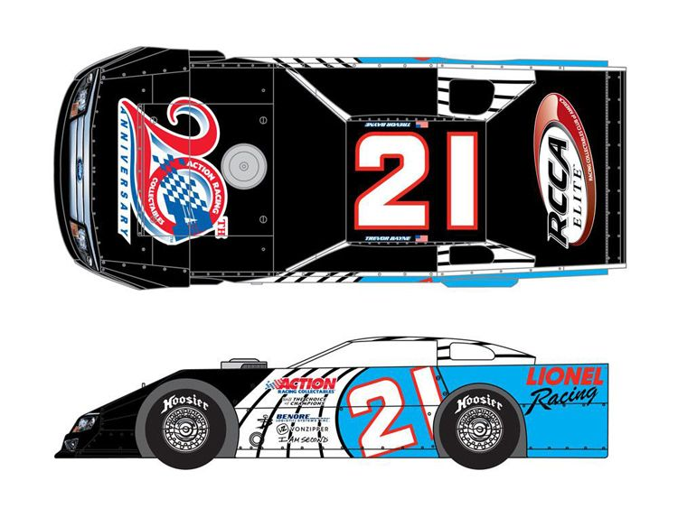 Daytona 500 champion trevor bayne personally designed the for Dirt track race car paint schemes
