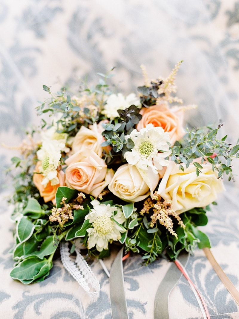 Bouquet From French Country Chic Wedding Shoot Httpwww