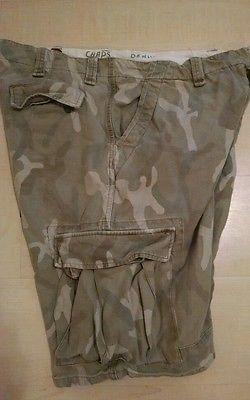 Ralph-Lauren-Chaps-Denim-Camo-Cargo-Shorts-size-38