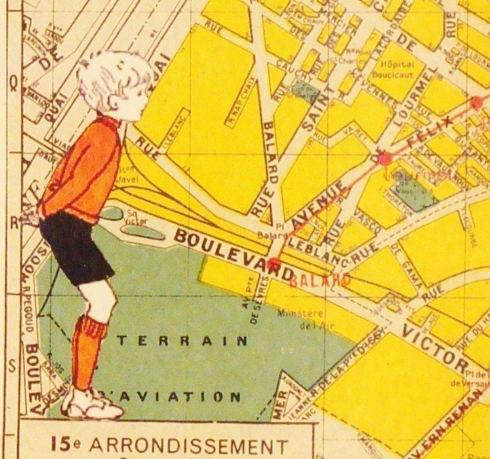 Paris, 15th Arrondissement...mokka Vintage maps, Paris map