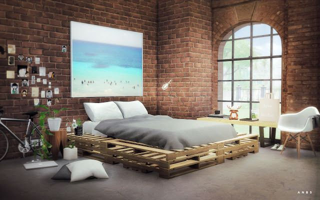 Sims 4 CC's The Best Wooden Pallets by Alachie and