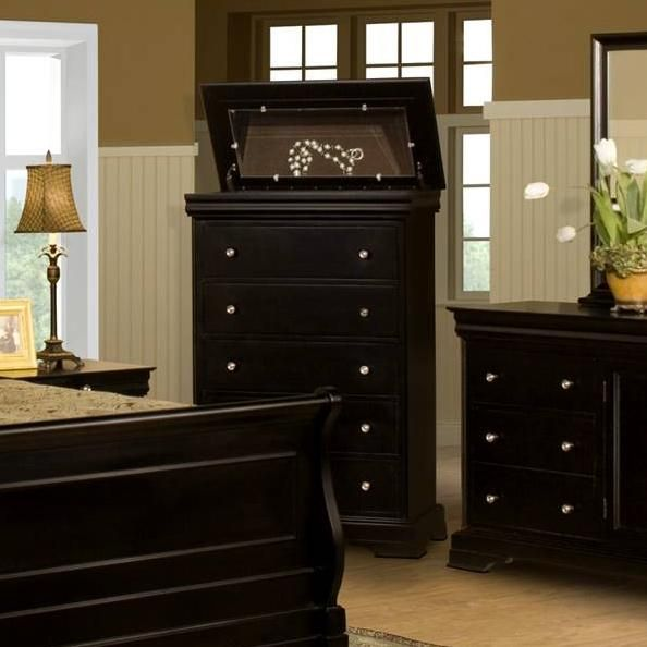 Belle Rose Five Drawer Chest With Lift Top By New Classic At Rifeu0027s Home  Furniture