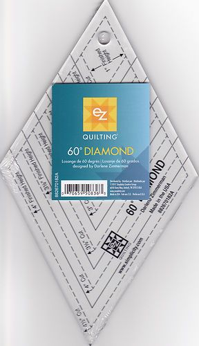 60 degree clear diamond ez quilt template ruler