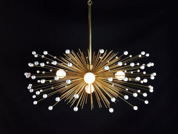 5 bulb white beaded urchin chandelier lighting suspension explosion or dorée et plusieurs ampoules baroque contemporaine
