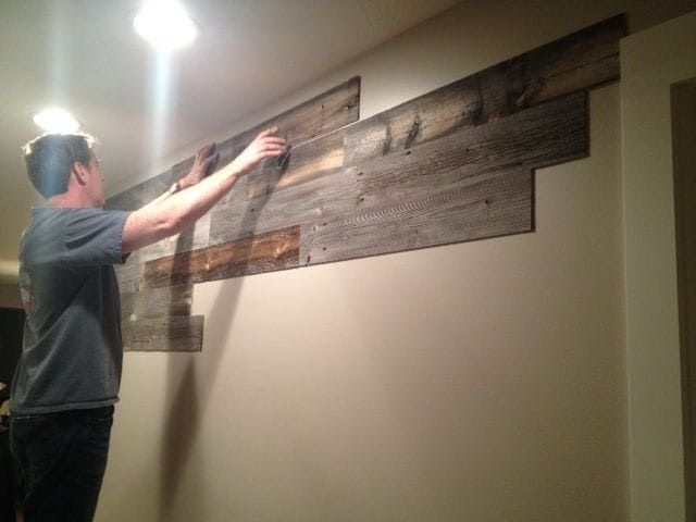 L And Stick Wood Wall Paneling Stikwood Would Be Cute On A In Boy S Nursery Hunting Rustic