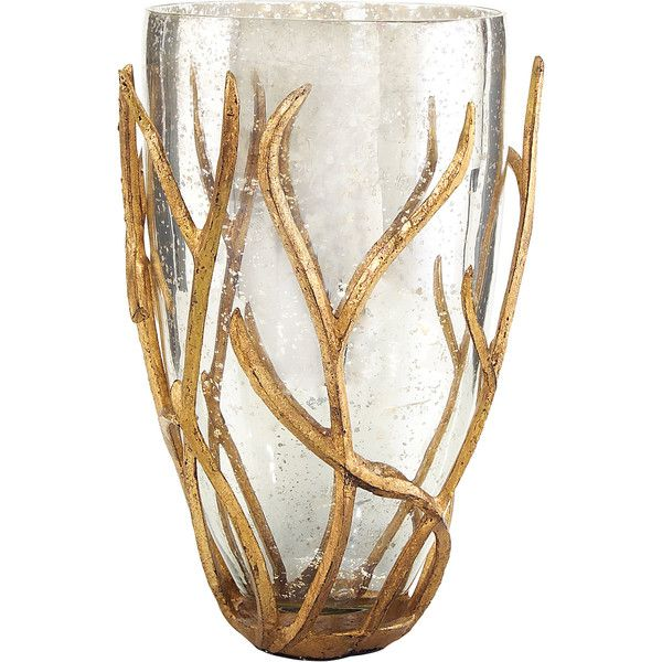 Regency Wred Gold Branch Mercury Gl Vase 343 Liked On Polyvore Featuring Home