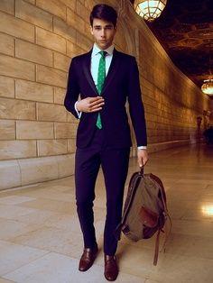 Navy Suit + Emerald Tie  f2f6c180581