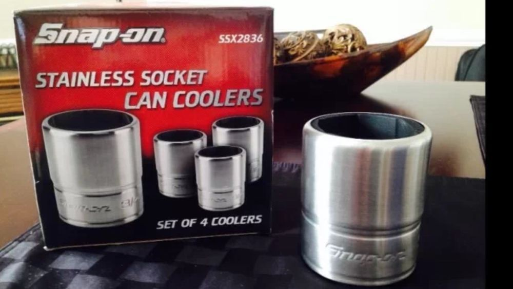 Snap-on Stainless Socket Can Coolers