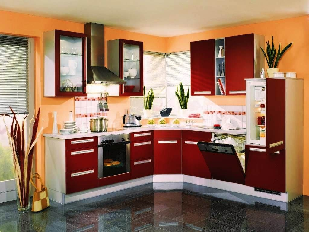 Red And White Kitchen Cabinets Design Ideas Part 90