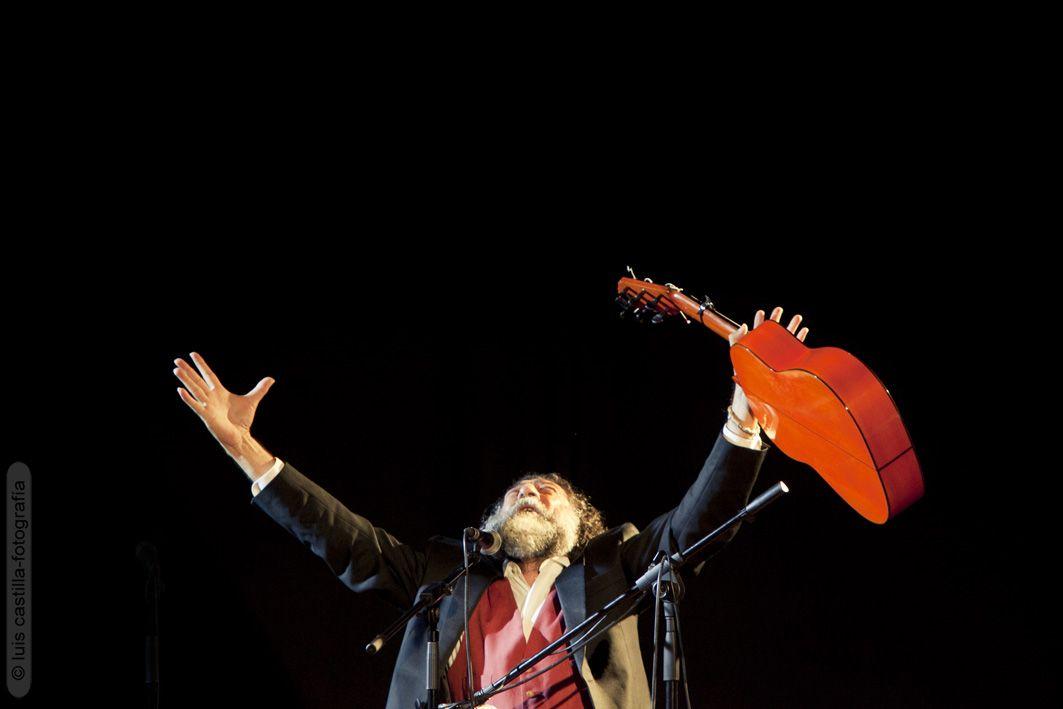 Manuel Molina fotografiado por Luis Castilla en el concierto que la Fundación Proyecto Don Bosco organizó en Caja Sol. Mayo 2013