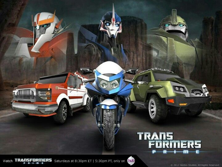 Transformers prime Autobots  Arcee, Ratchet, and Bulkhead