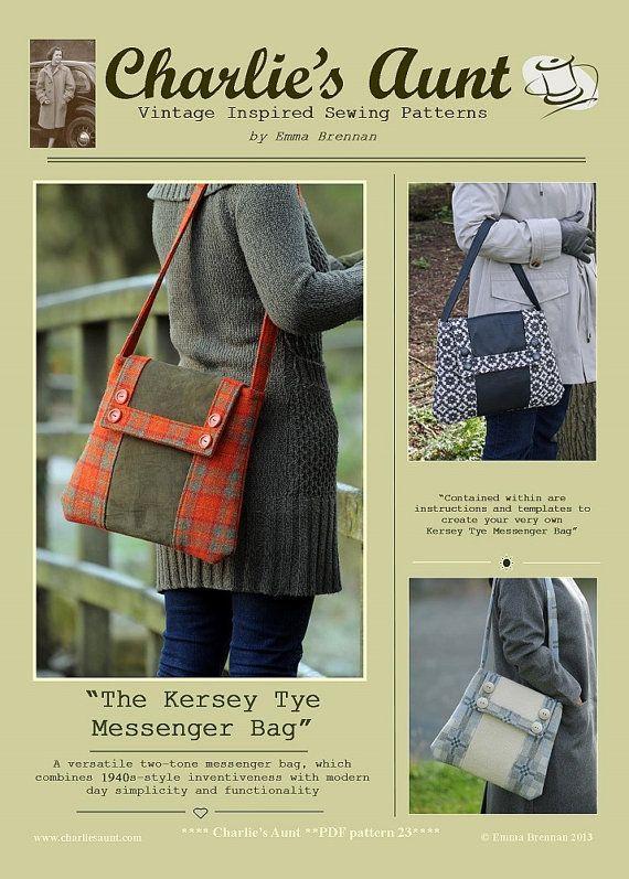 Sewing pattern to make the Kersey Tye Messenger by charliesaunt