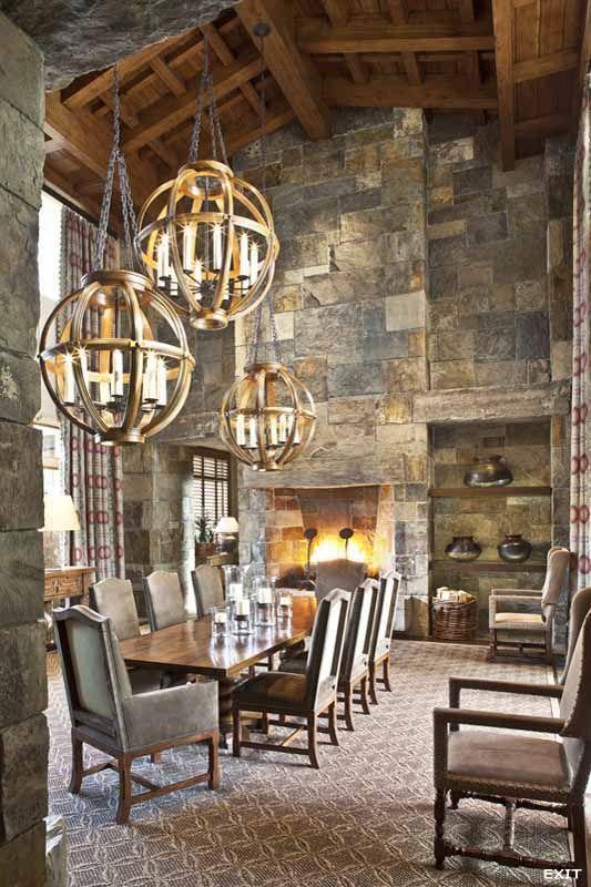 House · Dining Room. Amazing stone work ceiling and lighting. u003c3 .findinghomesinhenderson & Dining Room. Amazing stone work ceiling and lighting. u003c3 www ... azcodes.com