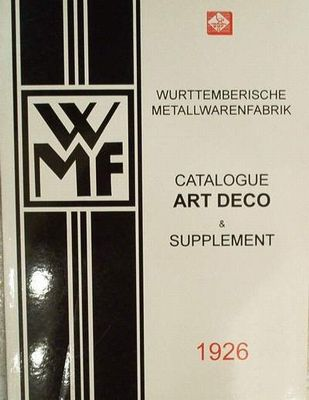 Wmf Metaal Art Deco Supplement 1926 Metaal Art Deco The Originals