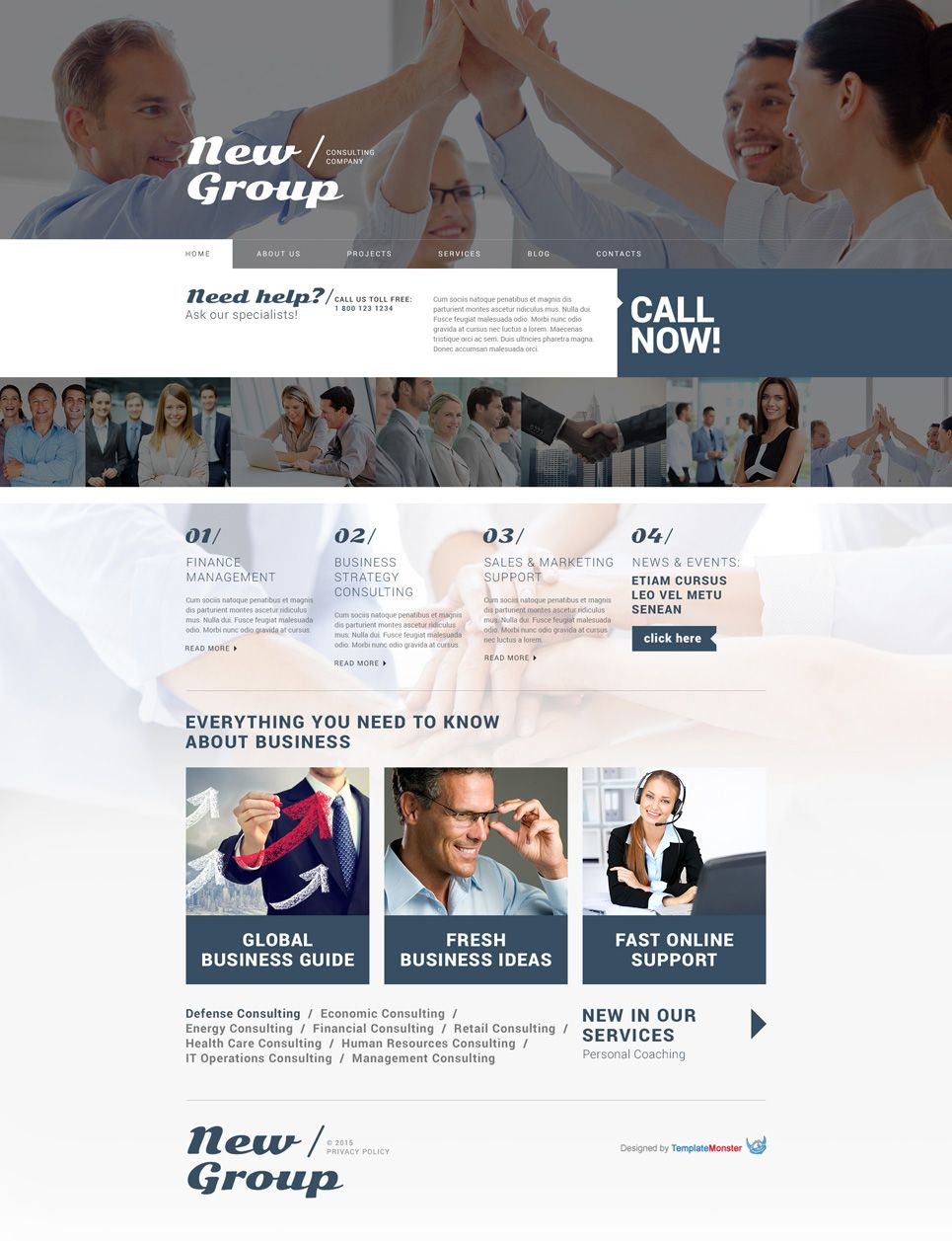 Free Wordpress Theme For Consulting Firm Free Website Templates