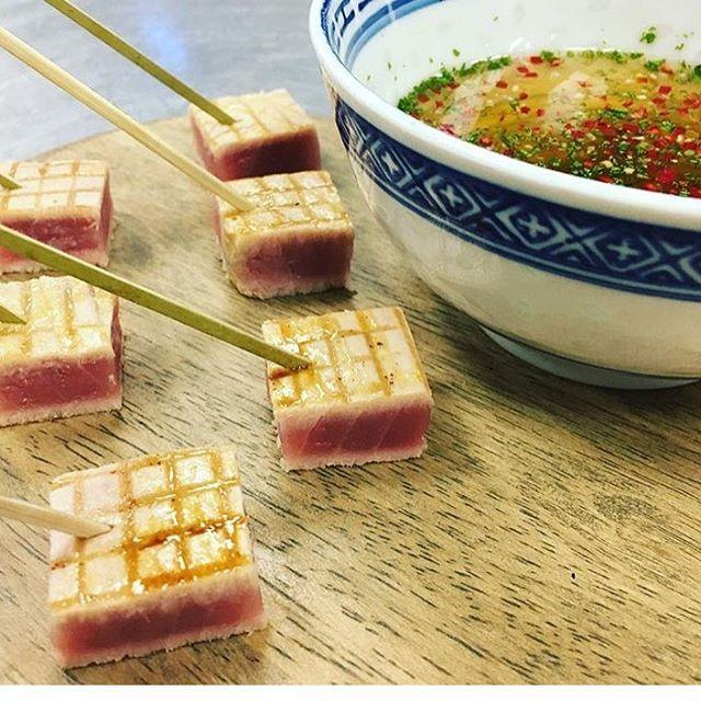 Seared Tuna With A Mirin Dipping Sauce