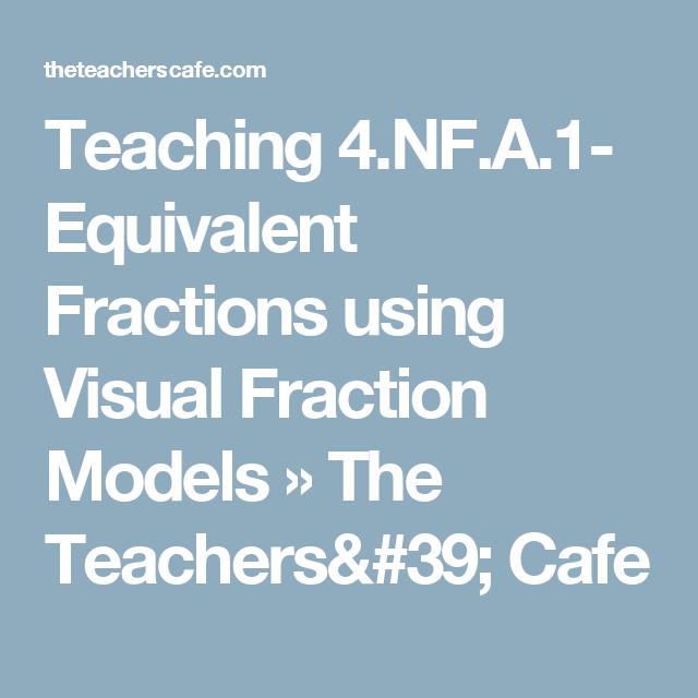 Teaching 4.NF.A.1- Equivalent Fractions using Visual Fraction Models » The Teachers' Cafe