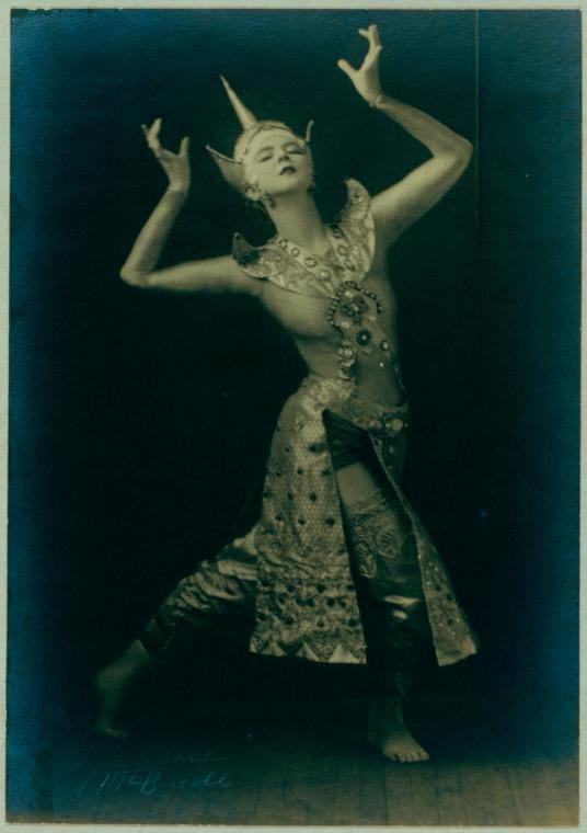 Ruth St. Denis in Siamese Ballet.