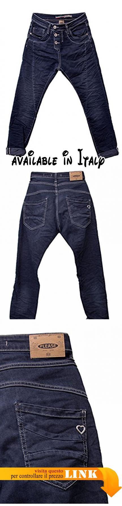 Please P78 Jeans Scuro da Donna Baggy