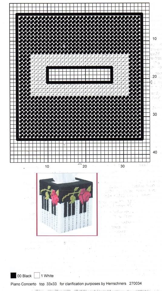 PIANO CONCERTO TISSUE BOX COVER by HERRSCHNERS 3/3 | Tissue box ...