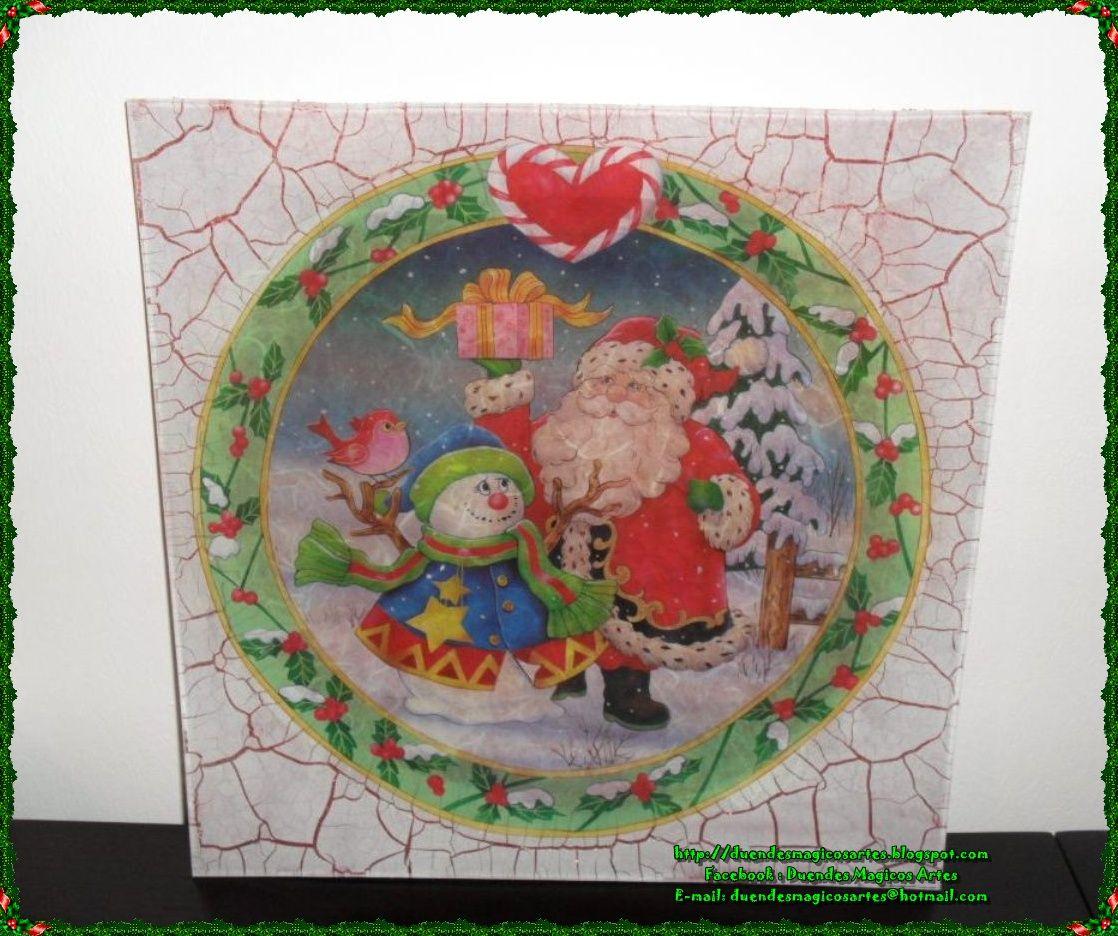 Prato Pai Natal e Boneco de neve