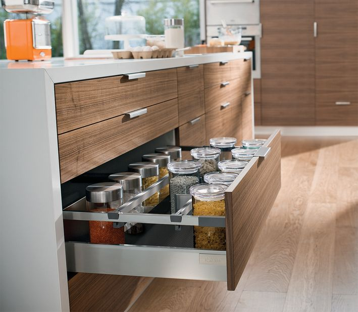 Deep drawers may hold anything from pots and pans, to bottles or food items. With ORGA-LINE, keeping these items organized is easier than ever.