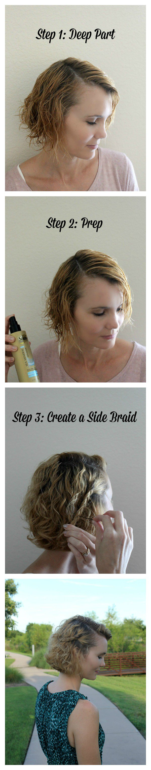 Quick and easy step hairstyle idea for short hair styleityourself