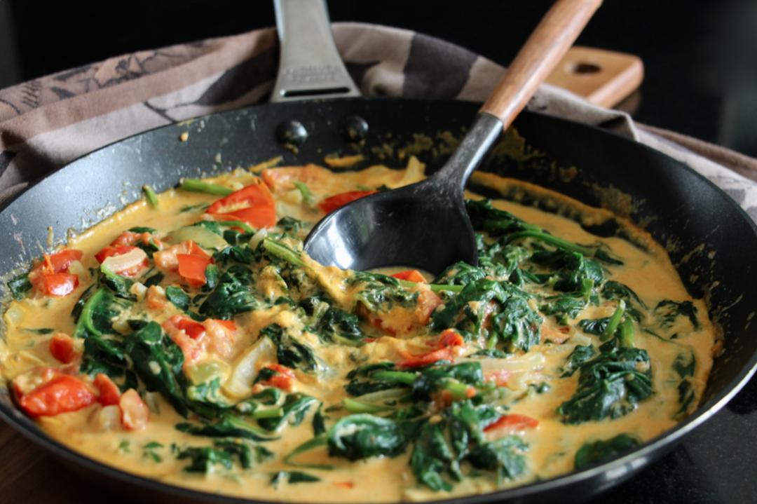 Curry dÉpinards et Tomates